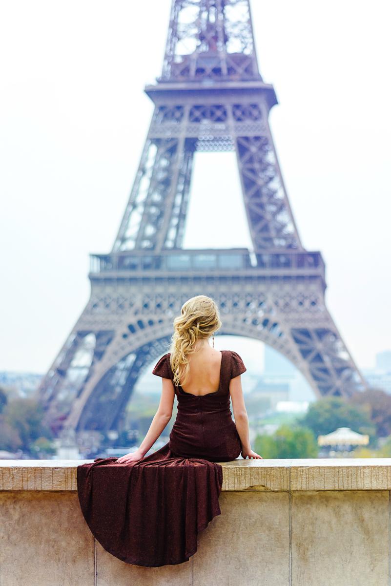 Картинка париж и девушка