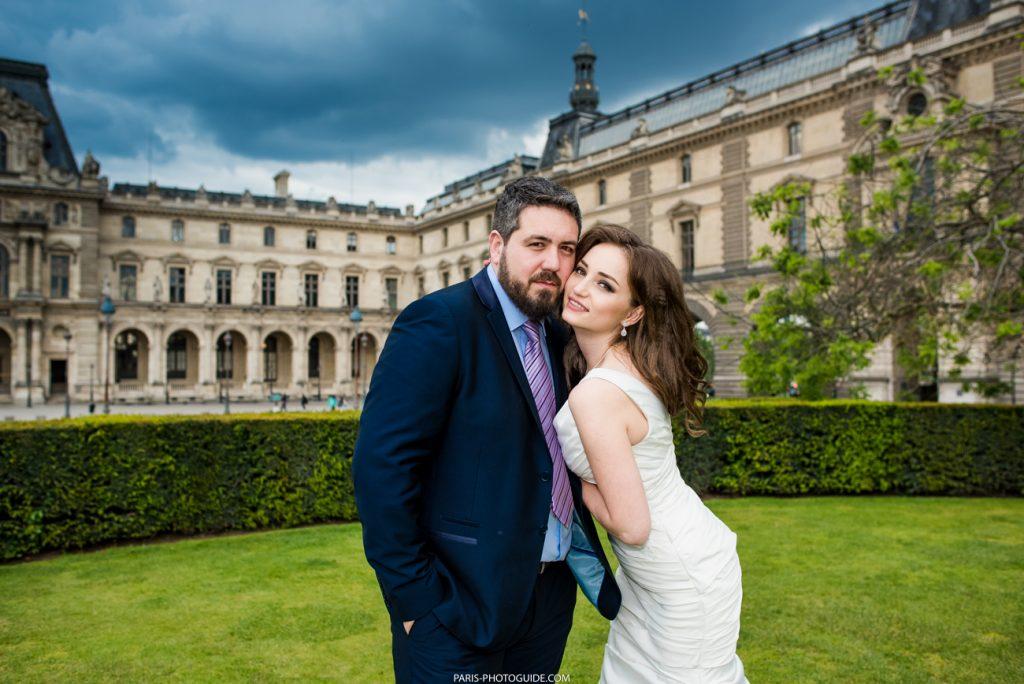 свадебная фотосессия в Лувре
